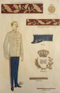 uniforme diario jefe de admin. 1906