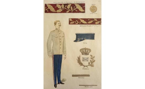 uniforme de gala de Jefe de Administración de Correos