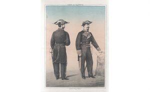 Uniformes de Subdirectores de Sección de Telégrafos. 1864