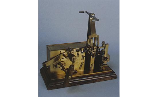 Receptor de cinta morse tipo suizo. Finales s. XIX.