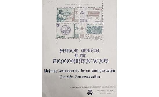 Hoja bloque del Museo Postal y de Telecomunicación