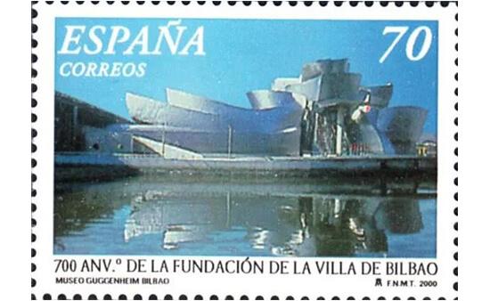 Sello dedicado al Museo Guggenheim de Bilbao