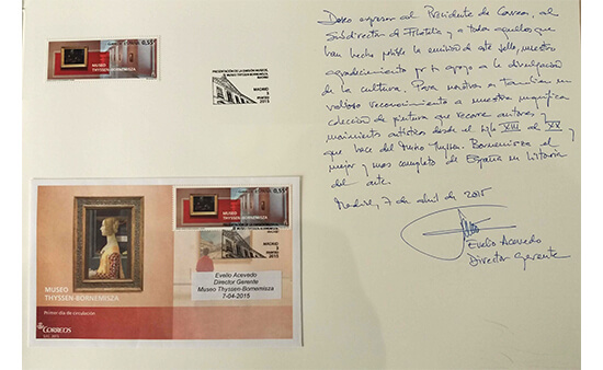 Presentación del sello dedicado al Museo Thyssen-Bornemisza