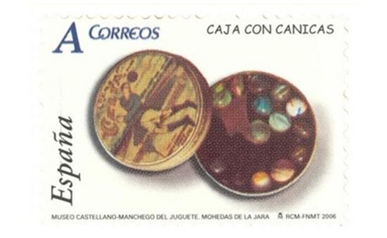 Sello dedicado al Museo Castellano Manchego del Juguete