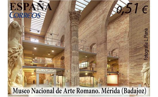 Sellos dedicados al Museo Nacional de Arte Romano de Mérida