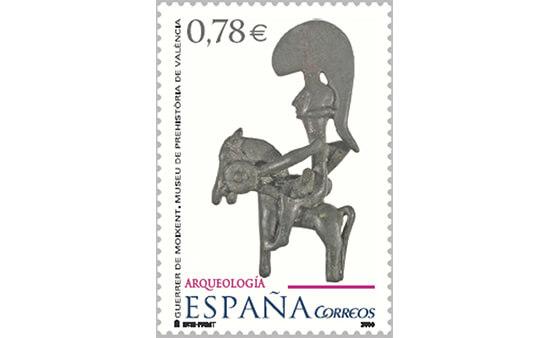 Sello dedicado al Museo de la Prehistoria de Valencia