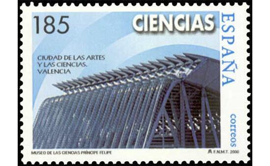 Sello dedicado al Museo de las Ciencias Príncipe Felipe de Valencia