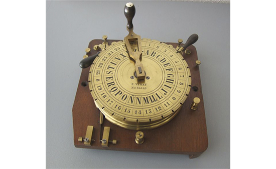 Telégrafo de cuadrante Breguet. Transmisor.